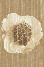 Lined Peony Hand Knotted Rug