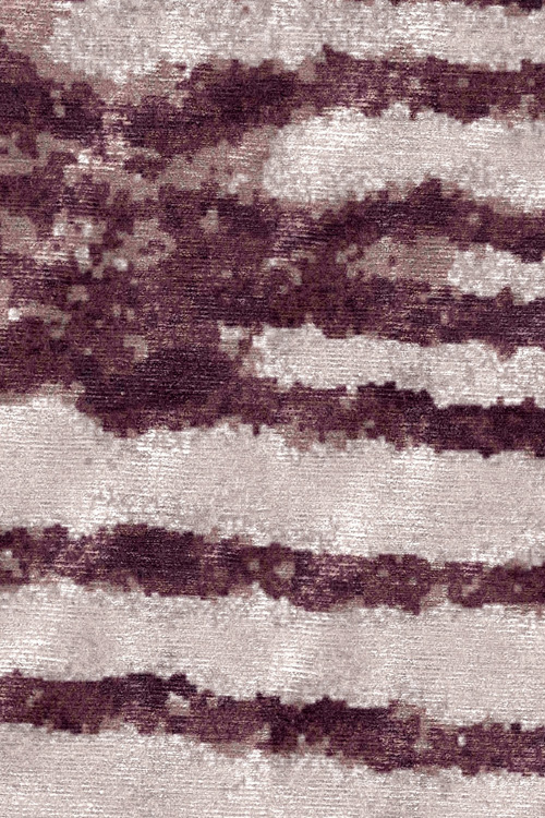 Manhattan Hand Knotted Rug in Claret by Tania Johnson Design - Close up