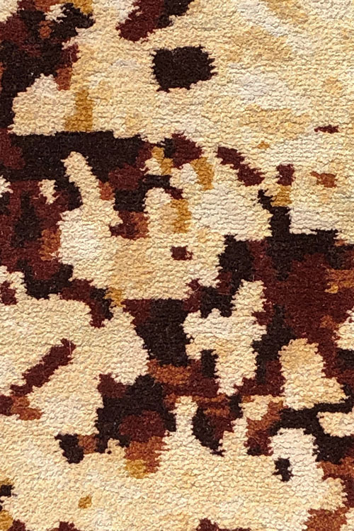 Winchester Hand Knotted Wool and Silk Rug in Autumn by Tania Johnson Design - Close up