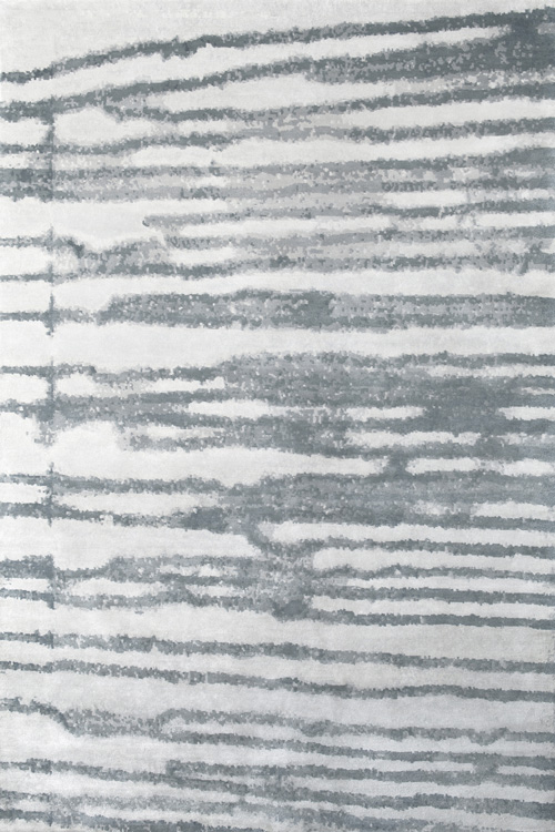 Manhattan Hand Knotted Rug in Teal Grey by Tania Johnson Design
