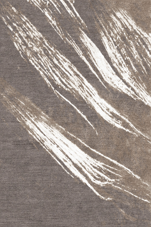 Newtown Hand Knotted Wool and Silk Rug by Tania Johnson Design Dark Beige