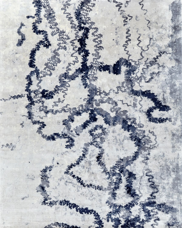 Smudge Wool and Silk Rug
