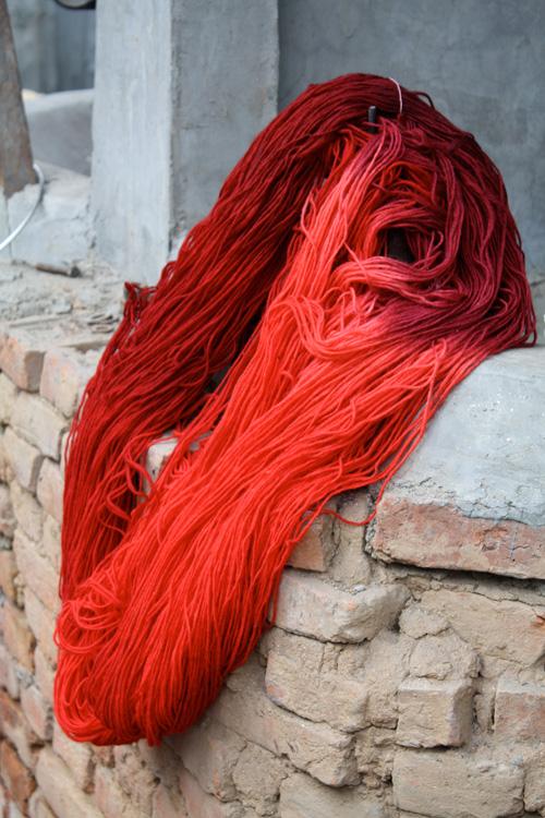 Rug Manufacturing - drying the yarn